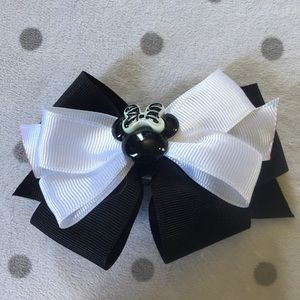 Other - Black and White Minnie Mouse Hair Bow